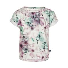 Minymo Floral Graphic T-Shirt Floral Tops, Floral Prints, Cool Girl, Tie Dye, Girl Outfits, Men Casual, Mens Tops, How To Make, T Shirt