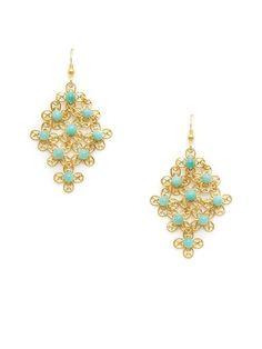 Floral Filigree Cluster Drop Earrings by KEP