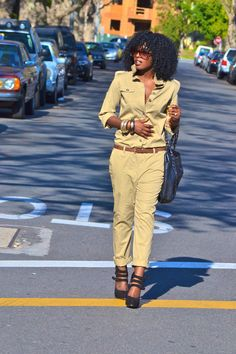 Today's outfit post! Military style jumpsuit.