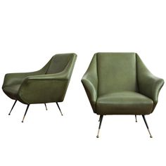 Pair of Lounge Chairs by Gio Ponti | From a unique collection of antique and modern chairs at http://www.1stdibs.com/furniture/seating/chairs/
