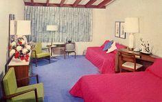 Vintage Postcards of Inspiring Motel Room Interiors: Cordova Lodge – Sacramento, California