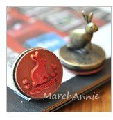 1pc Iron Rabbit stamp Vintage Stamp  Iron Rubber by MarchAnnie