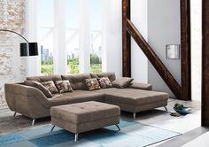 Design Wohnlandschaft SAN FRANCISCO Microfaser antik braun 360 cm: Amazon.de: Küche & Haushalt #möbel #moebel #sofa #couch #design #wohnzimmer #einrichtung #einrichten #furniture #livingroom #vegan
