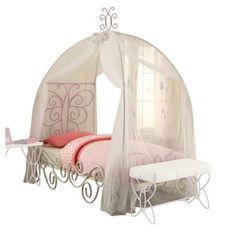 ACME Priya II Youth Canopy Bed, White