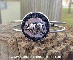 Black Tourmaline Elephant good luck handmade by SapphireMoonbeam, $39.00