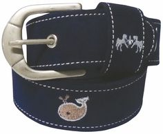 Equine Couture Whales Suede Belt - The Lexington Horse $19