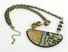 Stammes-Bib Halskette klobige Bib Halskette von mindfulmatters
