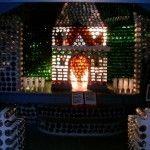 05 Capilla con botellas de vidrio - Casas con botellas Construcciones ecologicas