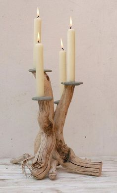 driftwood for crafts Buy Driftwood, Driftwood Furniture, Driftwood Projects, Driftwood Ideas, Driftwood Candle Holders, Diy Candle Holders, Diy Candles, Candle Wax, Wooden Decor