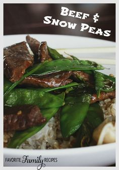 This recipe for Beef and Snow Peas not only tastes amazing, but it is low in calories too!! #beefandsnowpeas #beef