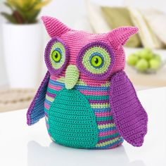 "yarn-over: "" Owl free German pattern by Buttinette """
