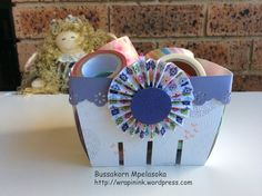 Berry basket, Stampin' Up! My Friend, Make a Cake, paper flower