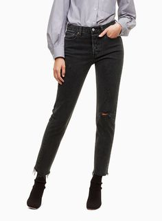 Inspired by vintage Levi's jeans, the Wedgie is a modern take on classic pairs. The high rise accentuates your waist and doesn't bunch or bag out, and the hip-hugging design shows off your curves. This pair is exclusive to Aritzia. Black Ripped Jeans, Mother Jeans, Best Jeans, Short Girls, Who What Wear, Fashion Outfits, How To Wear, Pairs, Shopping