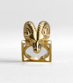Tory Burch Ram Head Ring perfect for an Aries