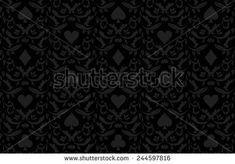 Luxury black poker background with card symbols