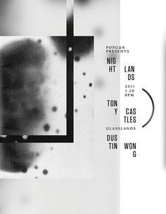 Graphic Design execatcher: linear, circular, and nebulous poster design   typography / graphic design: Nightlands @ eyebodega  