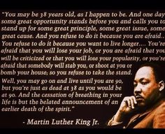 Death of the spirit - Martin Luther King Jr