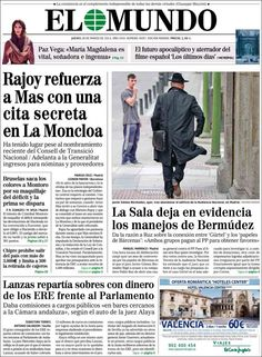 Los Titulares y Portadas de Noticias Destacadas Españolas del 28 de Marzo de 2013 del Diario El Mundo ¿Que le parecio esta Portada de este Diario Español?