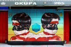 Street Art Graffiti, Wall Murals, Mexico, Creative, Artwork, Mad, Rocks, Murals, Art