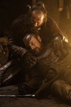 Paul Kaye as Thoros of Myr and Richard Dormer as Beric Dondarrion in 'Game of Thrones,' Season 3, Episode 305, 'Kissed By Fire'