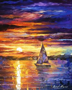 Sailing In Cancun — PALETTE KNIFE Contemporary SeaScape Oil Painting On Canvas…