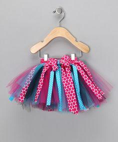 Look at this #zulilyfind! Pink & Turquoise Polka Dot Tutu - Infant, Toddler & Girls #zulilyfinds