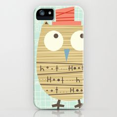 Mr.Hooti iPhone Case by Shiny Orange Dreams - $35.00