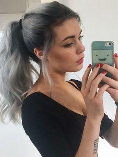 grey ombre hair color
