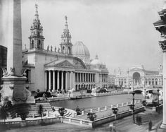 Chicago- palace of mechanic arts. World's Columbian Exposition 1893