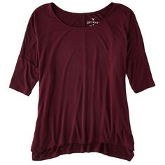 Soft & Sexy Oversized T-Shirt ($30) ❤ liked on Polyvore featuring tops, t-shirts, shirts, purple t shirt, draped t shirt, jersey shirts, oversized tee and sexy tee