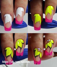 Gel Nail Designs You Should Try Out – Your Beautiful Nails Colorful Nail Designs, Gel Nail Designs, Beautiful Nail Designs, Nail Art Hacks, Nail Art Diy, Diy Nails, Jolie Nail Art, Nailart, Wedding Nails Design