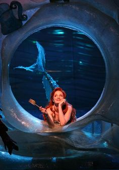 Sierra Boggess on Broadway as Ariel in The Little Mermaid the musical. *the musical is wonderful! Broadway Theatre, Musical Theatre, Broadway Shows, Musicals Broadway, Theatre Props, Stage Props, Broadway Nyc, Broadway Plays, The Little Mermaid Musical