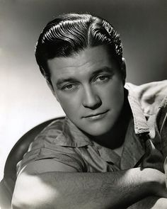 """Dennis Morgan - loved his performance in """"Three Cheers for the Irish"""" with Priscilla Lane, Thomas Mitchell and Jack Carson."""