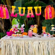 Our P.S. XO Pretty in Pink party box is perfect for a Luau party!
