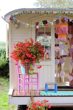 Summer Outdoor Playhouse with Gipsy Style