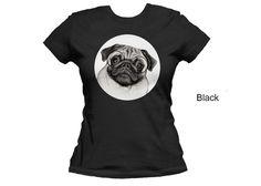 Pug women's t-shirt  dog t-shirt  pug t-shirt pet by MimoCadeaux