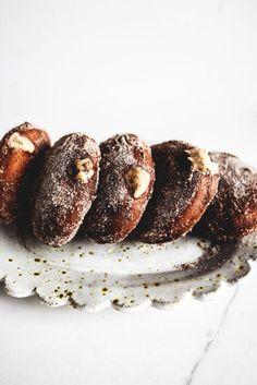 Tiramisu Donuts with White Chocolate Filling