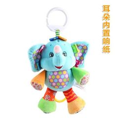 27cm*18cm Baby Rattles Mobiles Toy Dog Frog ring bell Infant Baby Crib Stroller Toy 0+ month Plush Sound Newborn Hanging Soft