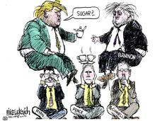 Mike Luckovich (2017-02-01) USA: Trump  , Bannon, Ryan, Pence, McConnel