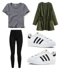 """""""Outfit 1310"""" by that-girl-j ❤ liked on Polyvore featuring Hollister Co., Levi's and adidas"""