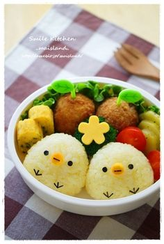 #lunch #cute #eat #picnic #소풍 #도시락#병아리