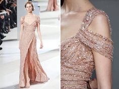 2011 Elie Saab haute couture wedding dresses - off-the-shoulder-metallic sequins beading
