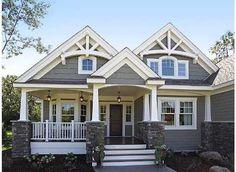 Best Ideas house exterior design dream homes craftsman style Future House, My House, House Bath, Cottage House, House Front, Cottage Home Plans, Cottage Style Homes, Lake House Plans, Ideal House