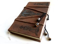 Hinges Ornate Grimoire Large Blank Book of Shadows by AnnEnchanted, $58.98