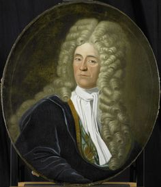 Portrait of Willem van Hogendorp, Director of the Rotterdam Chamber of the Dutch East India Company, elected 1692, Anonymous, 1700 - 1749 ~ can you imagine if such a man wore such a wig today?
