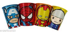 (4) MARVEL KIDS SUPER HERO REUSABLE STADIUM CUPS ~ Birthday Party Supplies | eBay