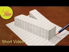 Very Easy Drawing Letter V - How to Draw 3D Letter V - Trick Art with Pencil - YouTube