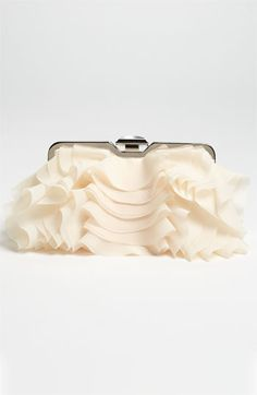 Glint Ruffle Front Clutch | Nordstrom