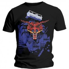 Judas Priest Unisex Tee: Defenders Blue is available wholesale. Judas Priest, Defender Of The Faith, High Quality T Shirts, Blue Design, Mens Tees, Cotton Tee, Short Sleeves, Defenders, Clothes