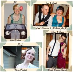 Dressed the part: some of the great costumes & guests from my 1920s speakeasy murder mystery birthday party.